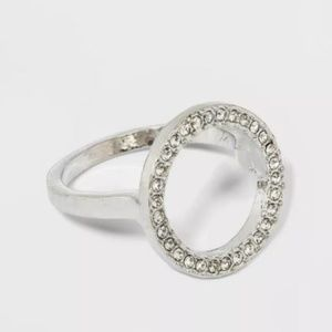 ⭐️ NWT Silver Open Circle Ring by a new day